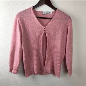 TSE Womens Sweater, Pink Silk Cashmere Large